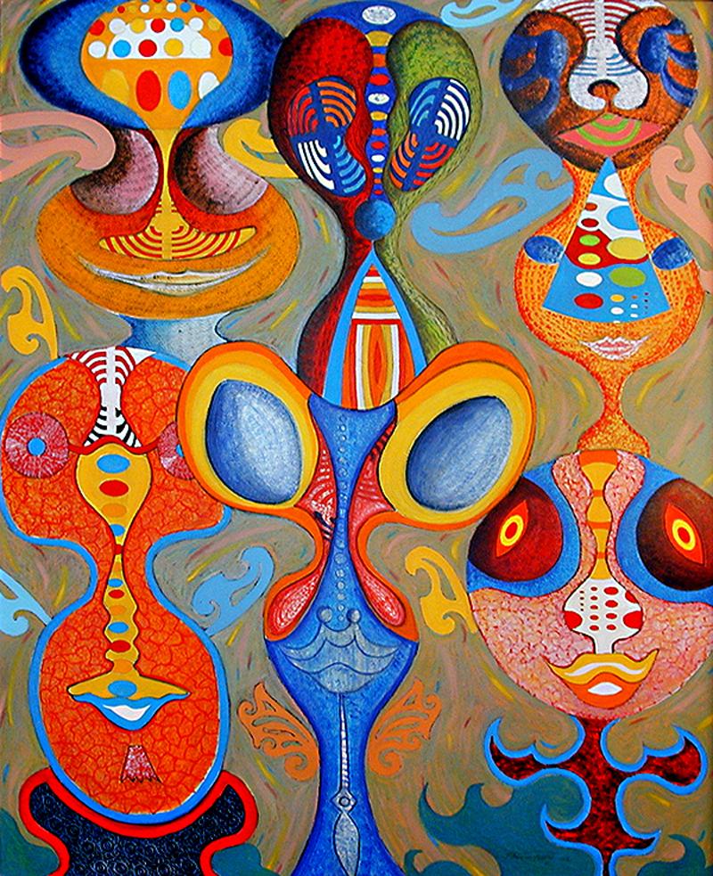 Jardin d'enfants - artiste peintre Vence