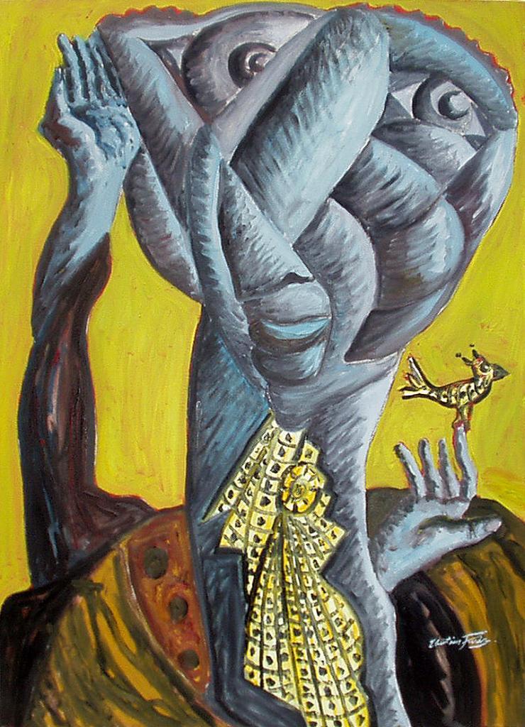 Le foulard - artiste peintre vence
