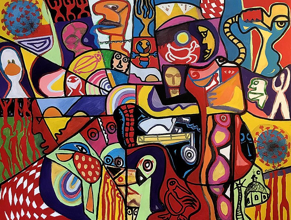 La deuxieme vague - artiste peintre Vence
