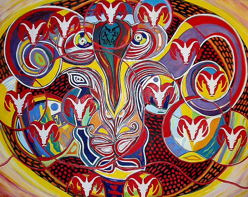 La ronde des béliers - artiste peintre Vence