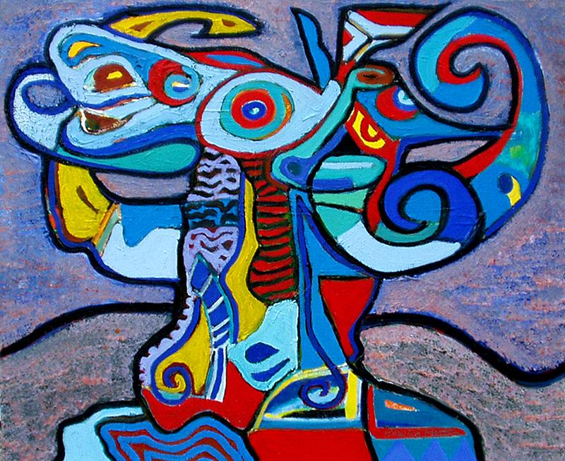 Le bélier bleu - artiste peintre vence