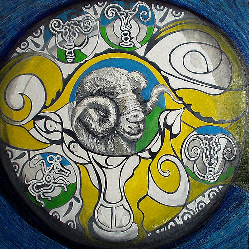 Le bélier jaune - artiste peintre vence