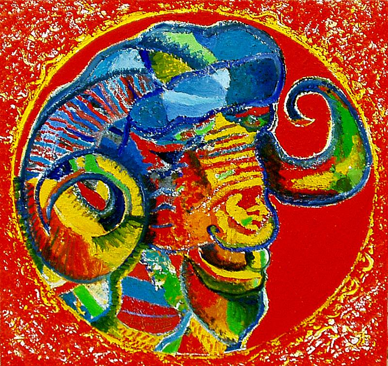 Le bélier rouge - artiste peintre vence