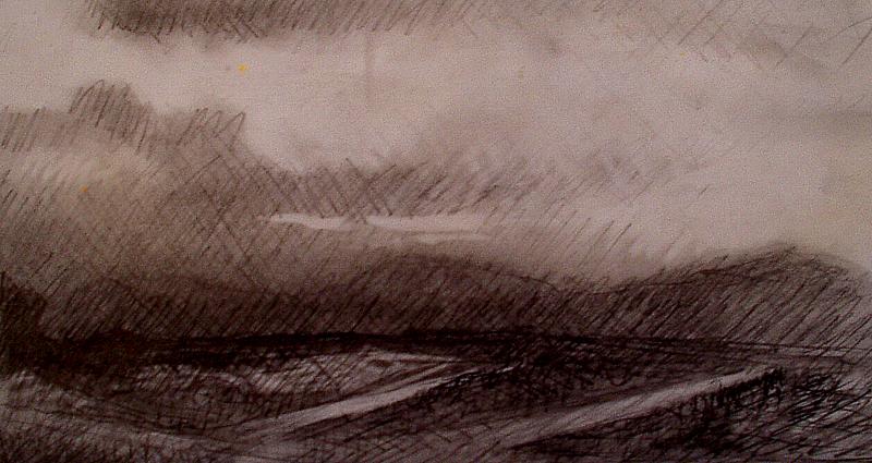 Orage paysage - Atelier Christian Ruiz Vence