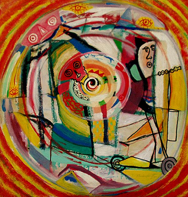 Trottinette - artiste peintre vence
