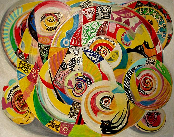 La danse des tortues 165 x 130